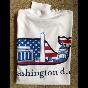Vineyard Vines White Washington DC LS Tee Shirt XS